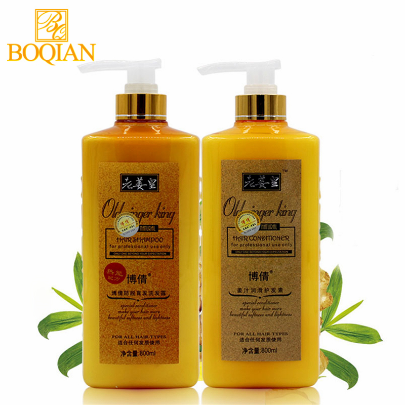 BOQIAN Ginger Shampoo and Conditioner 800mlx2 Hair Care Sets Professional Use for Hair Treatment Make Hair