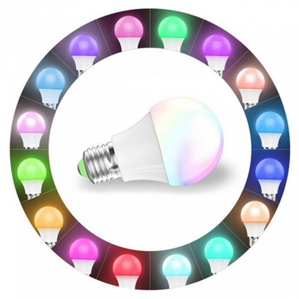 4.5W E27 WIFI Smart LED Bulb RGBW Dimmable Support IOS Android APP Phone Control LED Lamp Compatible with Alexa & Google Home