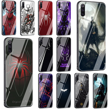 Batman and Spiderman Tempered Glass Phone Cover Case For