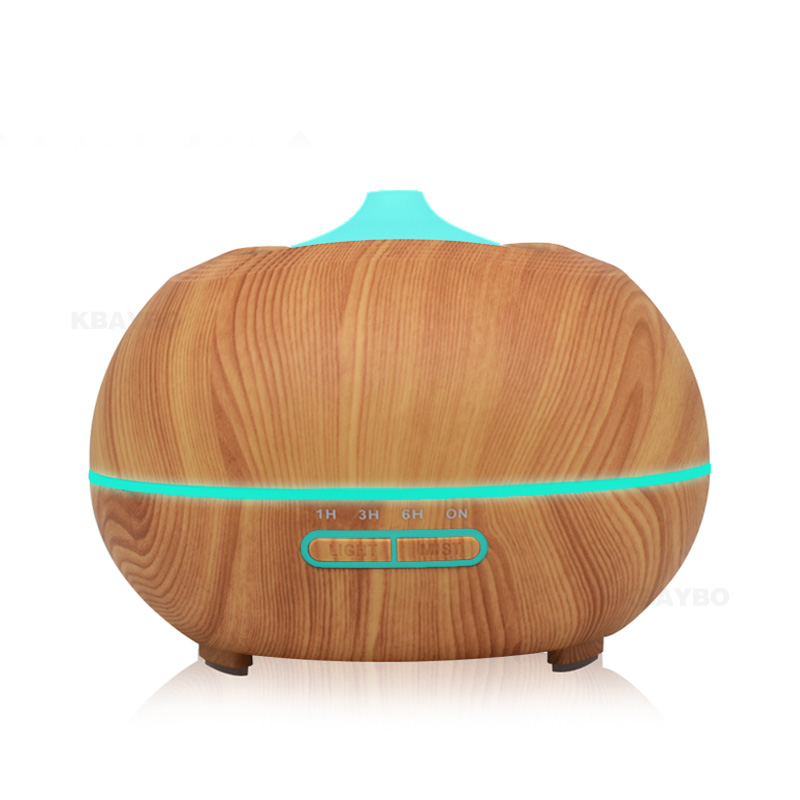 400ml Aroma Diffuser Aromatherapy Humidifiers Wood Grain Essential Oil Diffuser Ultrasonic Cool Mist Humidifier for Office Home aroma oil diffuser ultrasonic humidifier remote control 10s 2h 4h timer 500ml tank lamp wood ultrasonic humidifiers for home
