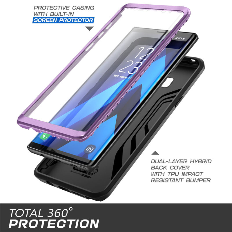 Image 5 - SUPCASE For Samsung Galaxy Note 9 Case UB Neo Full body Protective Dual Layer Armor Marble Case With Built in Screen Protector-in Fitted Cases from Cellphones & Telecommunications