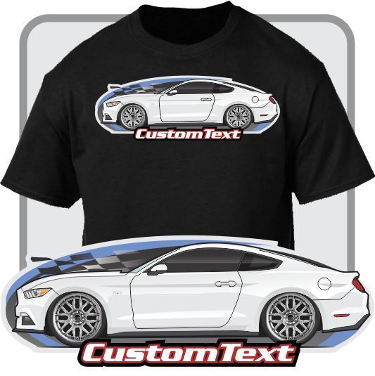 2018 Newest Men'S Funny Custom Car Art T-shirt 2015 15 2016 16 Mustang 5.0 not affiliated with American Classic Car Fans GT Tee