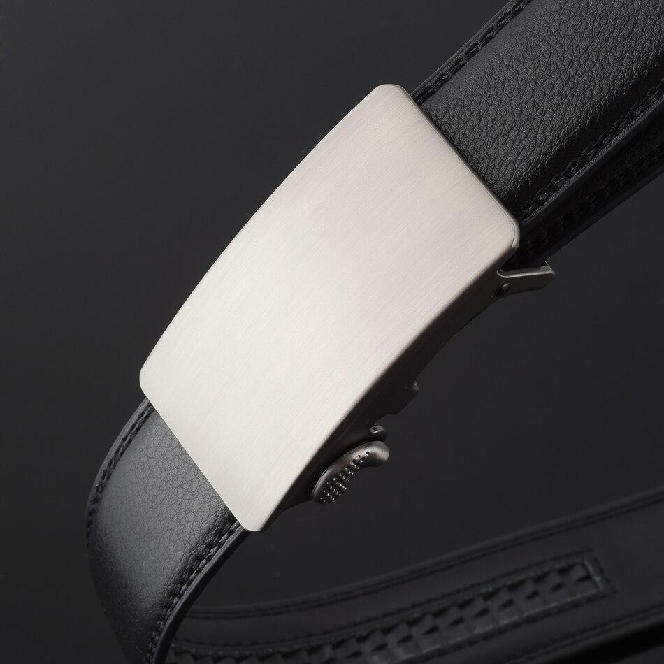 d0f8473801b6 WOWTIGER Nouvelle Mode Designer Ceintures pour Hommes Coulissantes Boucle À  Cliquet De Luxe En Cuir Automatique ceinture homme cinto masculino ceinture  dans ...