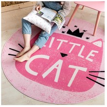 Honey pink cartoon cat round shaped carpet 150 150cm kitty living room carpet bedroom ground mat