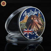 WR Australian Endangered Wild Life Frilled Neck Lizard Commemorative Metal Coin 999.9 Silver Coins Worth Collection