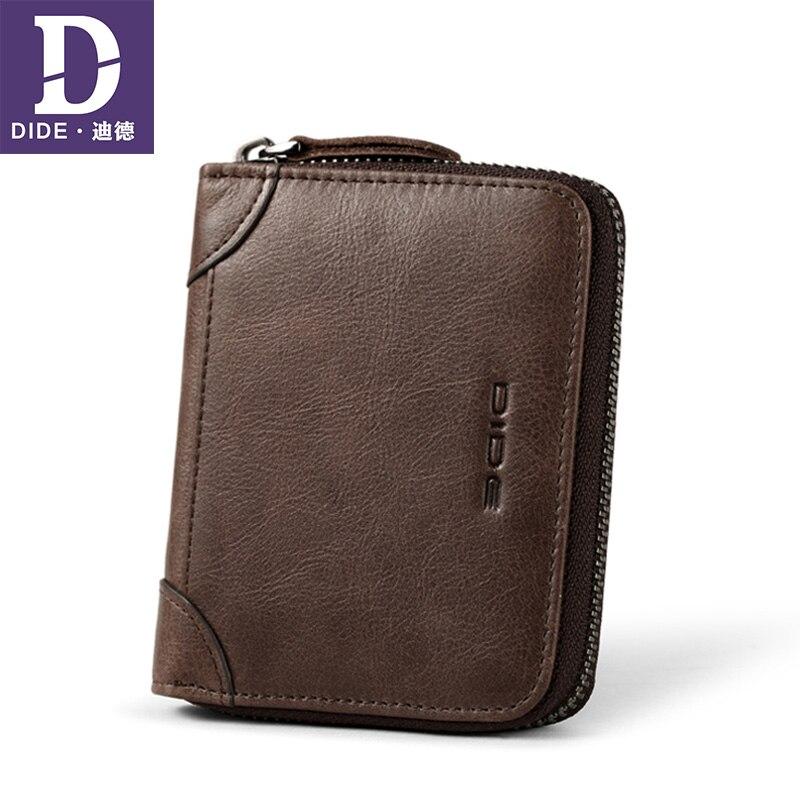 DIDE Cowhide Wallet Purse Card-Holder Coin Female Designer Genuine-Leather Unisex Bag