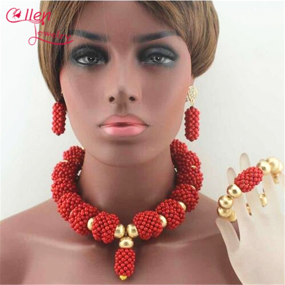 Fashion Orange Coral Pendant Necklace Set nigerian Wedding coral beads African beads Jewelry Set Bridesmaid Necklace E1018Fashion Orange Coral Pendant Necklace Set nigerian Wedding coral beads African beads Jewelry Set Bridesmaid Necklace E1018