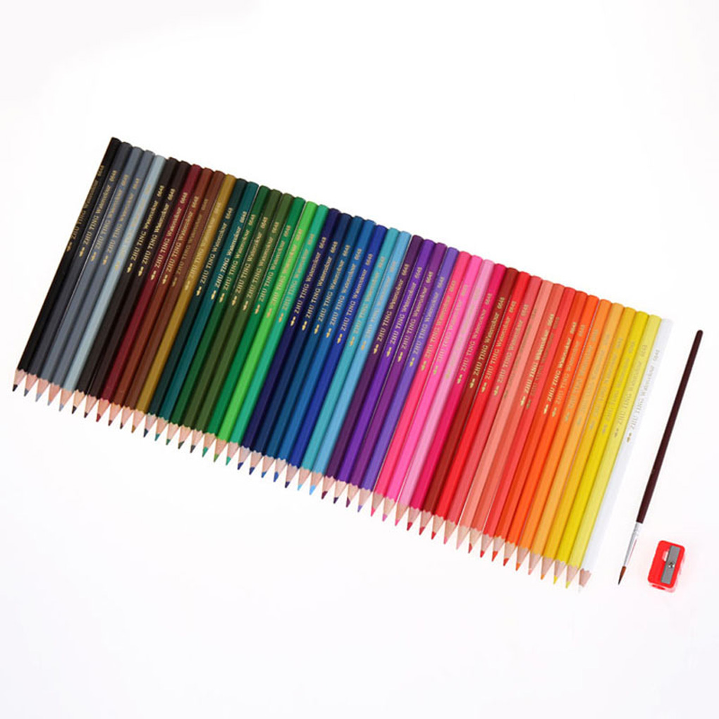 Watercolor pencils for adult coloring book - 48 Color Watercolor Pencil Set For Adult Coloring Books Drawing Sketch Artists China