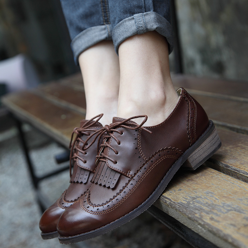 Teahoo 2017 Autumn Winter Oxford Shoes for Women Lace up ...