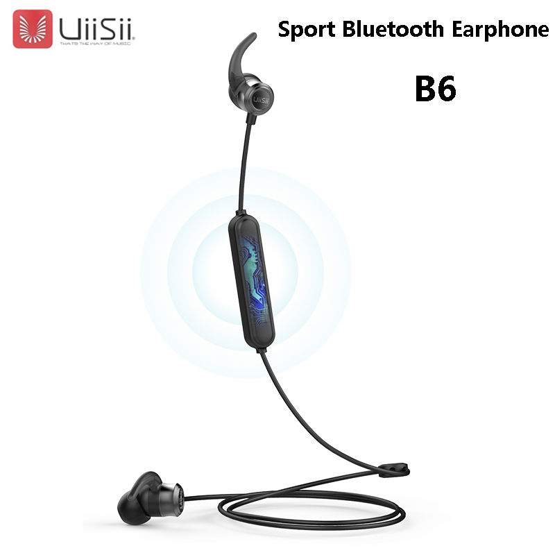 UiiSii B6 Nuovo Sport Senza Fili di Bluetooth Auricolare cuffia BT5.0 IPX4 Impermeabile di Modo In-Ear Auricolare Per Xiaomi Huawei IphoneUiiSii B6 Nuovo Sport Senza Fili di Bluetooth Auricolare cuffia BT5.0 IPX4 Impermeabile di Modo In-Ear Auricolare Per Xiaomi Huawei Iphone