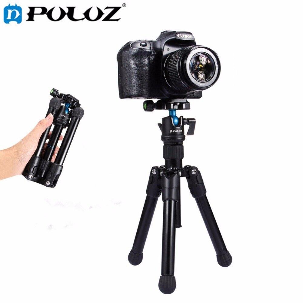 PULUZ Mini Pocket Tripod Monopod Camera holder camera tripod W/ 360 Degree Ball Head for Canon Nikon Sony DSLR Camera Camcorder pixle vertax d14 battery grip as mb d14 for nikon dslr d600 d610 camera
