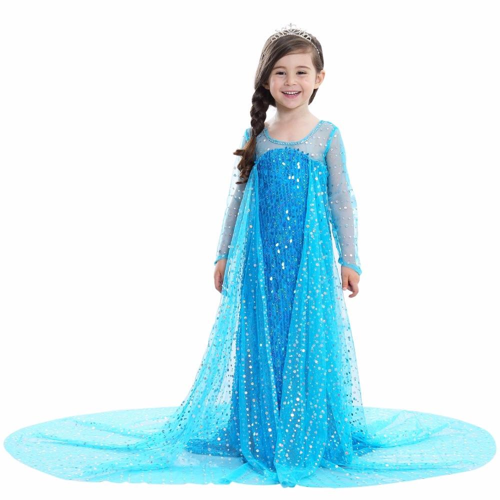 VASHEJIANG Girls Princess Elsa Dress up Costume Kids Princess Party ...