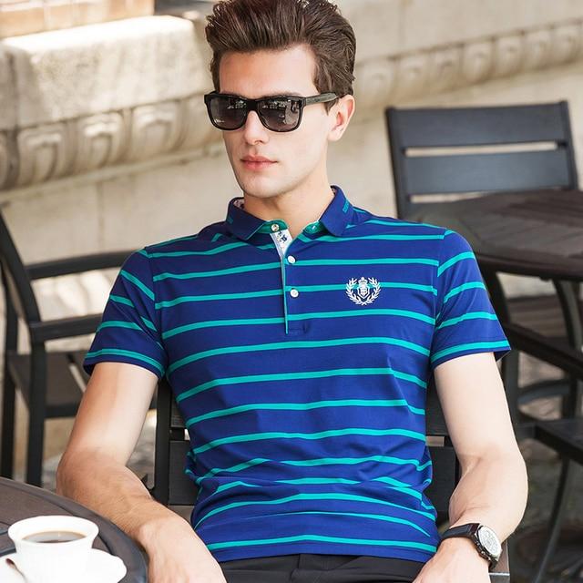 2016 Summer Fashion Striped Short Sleeve Mens Polo Shirt Brands Shirts polo homme ralphmen camisa polo homme marque Tops