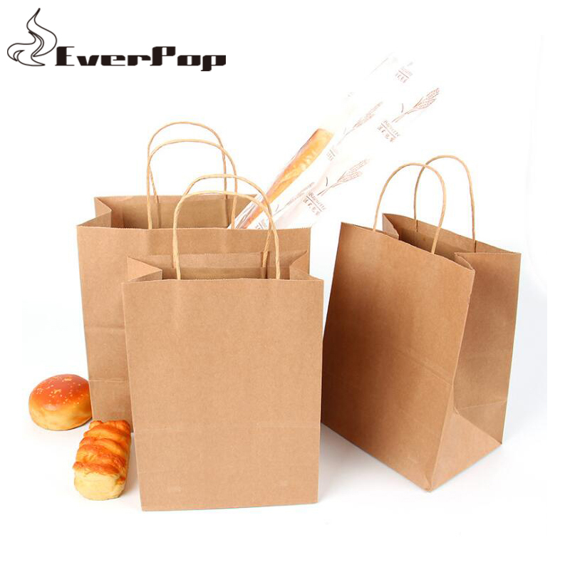 514ac2582f Detail Feedback Questions about 10pcs 20pcs Environment Friendly Kraft Paper  Bag Gift Bag with Handles For Christmas Wedding Party Favors Food Candy  3Size ...