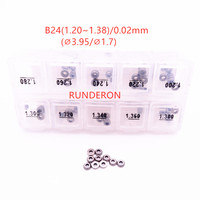 RUNDERON B24 Washer Shim 1.20 1.38 0.02mm Accuracy Fuel System Common Rail Injector Adjustment Gasket Kit for Denso