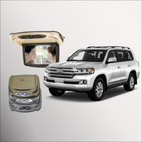 For Toyota Land Cruiser Car Roof Mounted In Car LED Digital Screen Support HDMI USB FM
