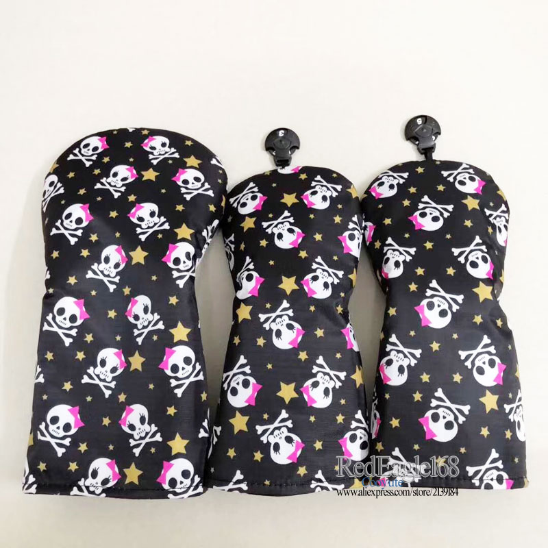 Image 5 - wholesale New Golf wood headcover high quality Skull 135 Golf headcover Unisex Drivers Clubs head cover Free shipping-in Club Heads from Sports & Entertainment