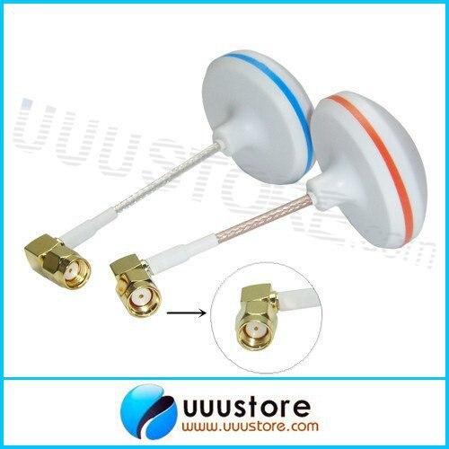2 unids/lote L forma agujero interior Antenas boscam 5.8 GHz FPV alta ganancia trébol setas rp-sma macho antenas set para RC FPV foto aérea