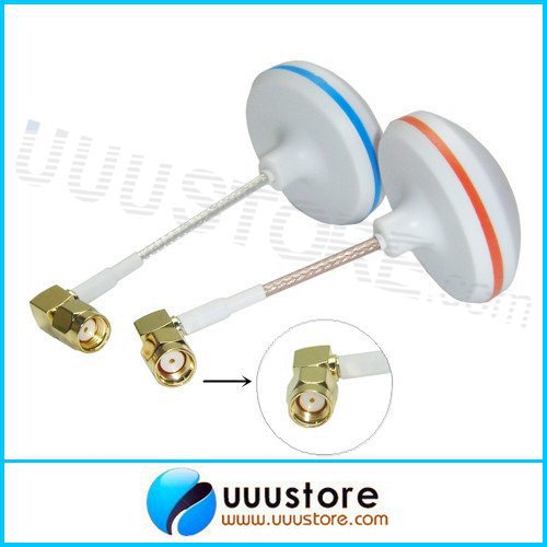 2pcs/lot L Shape Inner Hole Antenna boscam 5.8Ghz FPV High-gain Clover Mushrooms RP-SMA Male Antenna Set for RC FPV Aerial Photo