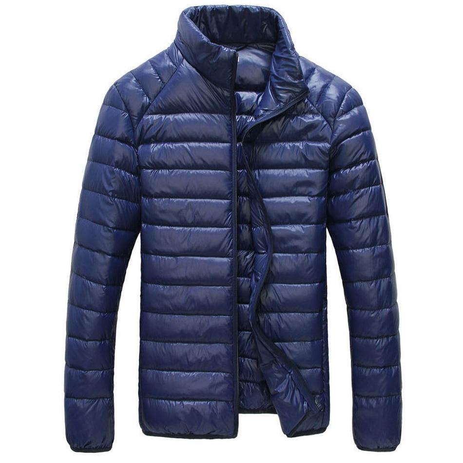 Winter Duck down Jacket Men Warm solid fashion thin ultra light down jacket Lightweight Parka jaqueta masculina Coats