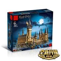Гарри Поттер Волшебный Замок Хогвартс Совместимость с Legoingly Гарри Поттер 71043 Строительные блоки Кирпич малыш Рождественский DIY игрушка 11A