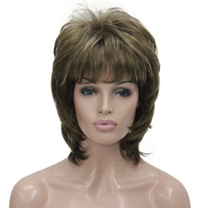 Image 3 - StrongBeauty נשים סינטטי פאה קצר שיער ערמוני/בלונד טבעי פאות בלי כומתה שכבות תסרוקות