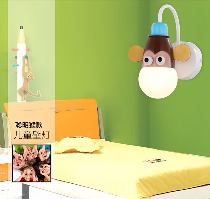 Popular Kids Wall Lamp-Buy Cheap Kids Wall Lamp lots from China ...:Free Shipping Cartoon Kid Wall Lamp LED Children Wall Light Child Bedroom  lighting Novelty Animal Cartoon,Lighting
