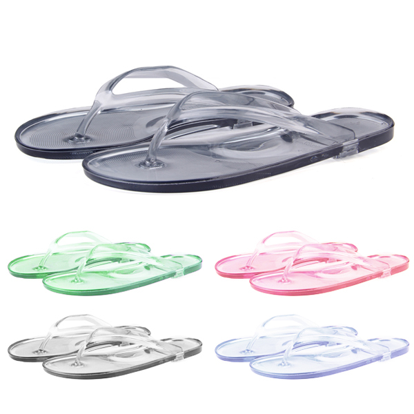 53787ff7b 2015 women summer style beach plastic flip flops casual holiday sandals  flats slippers clear flip flops free shipping J007-in Women s Sandals from  Shoes on ...