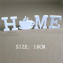 Высота 10 см искусственные деревянные белые буквы украшение