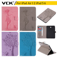 VCK Pattern TPU Flip Leather For IPad Air 2 Air 1 IPad 5 IPad 6 Case