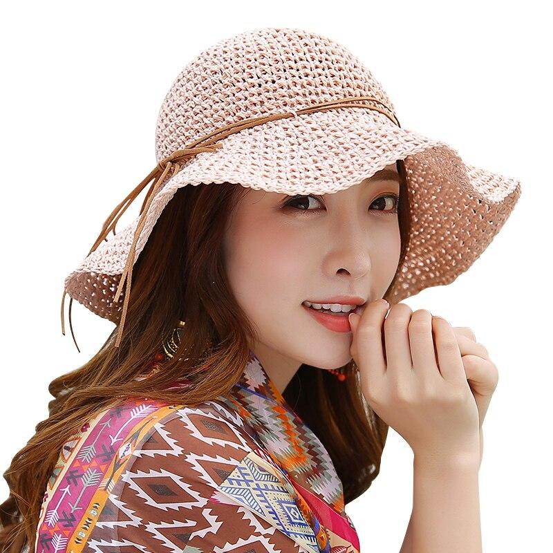 Princess Sweet Straw Hat Vuxen Mjuk Straw Sun Cap Flickor Beach Sun - Kläder tillbehör - Foto 5