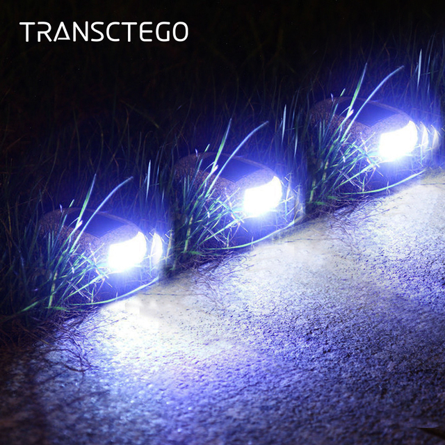 Solar Light For Garden Decoration Outdoor Path Lamp Pebbles Stone Led Rock Lights Waterproof Driveway Walkway