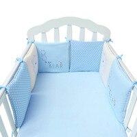 6Pcs/Lot Baby Bed Bumper Cartoon Printing Baby Crib Bumper