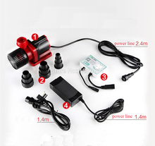 все цены на controllable Dc 24v mute Aquarium Water Pump variable frequency Submersible brushless water pump high lift big flow fish tank онлайн