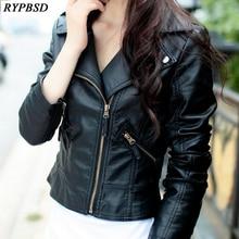 7319844eeb Perfecto Femme Cuir veste en Cuir femmes Slim noir rouge mode multiples  fermetures à glissière manteaux