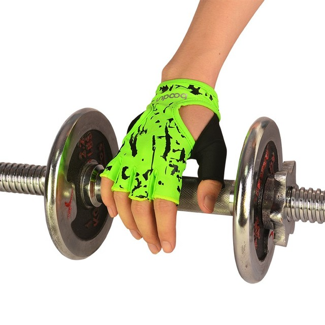 Brand Fitness Gloves Women Floral Yoga Weightlifting Gloves Half Finger Female Dumbbell Sport Gym Gloves ZC-AGB124