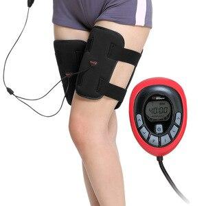 Image 1 - 150 intensität elektrische Wiederaufladbare EMS Bein abnehmen thighToning Gürtel ABS Weibliche oberschenkel Toner Abnehmen Beine Gürtel