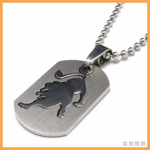 Engravable Chinese Zodiac Dog Tag Necklace: Fashion Jewelry The Signs Of The Zodiac Leo Leonis Pendant