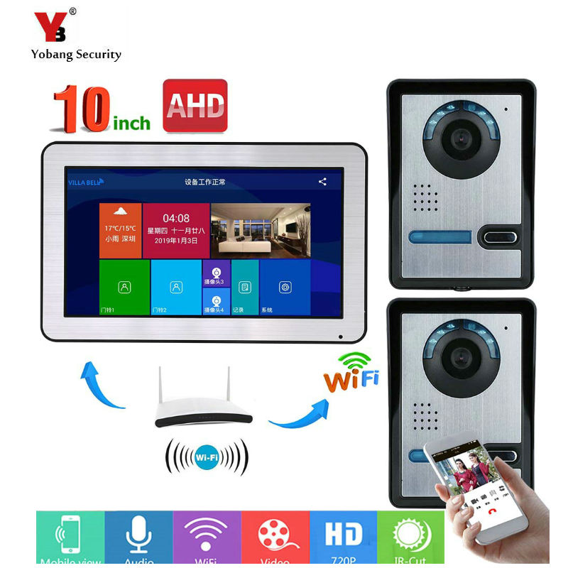 10inch Wired Wifi Video Door Phone Doorbell Intercom Entry System with IR-CUT HD 1000TVL Wired Camera Night Vision,Support Remot10inch Wired Wifi Video Door Phone Doorbell Intercom Entry System with IR-CUT HD 1000TVL Wired Camera Night Vision,Support Remot