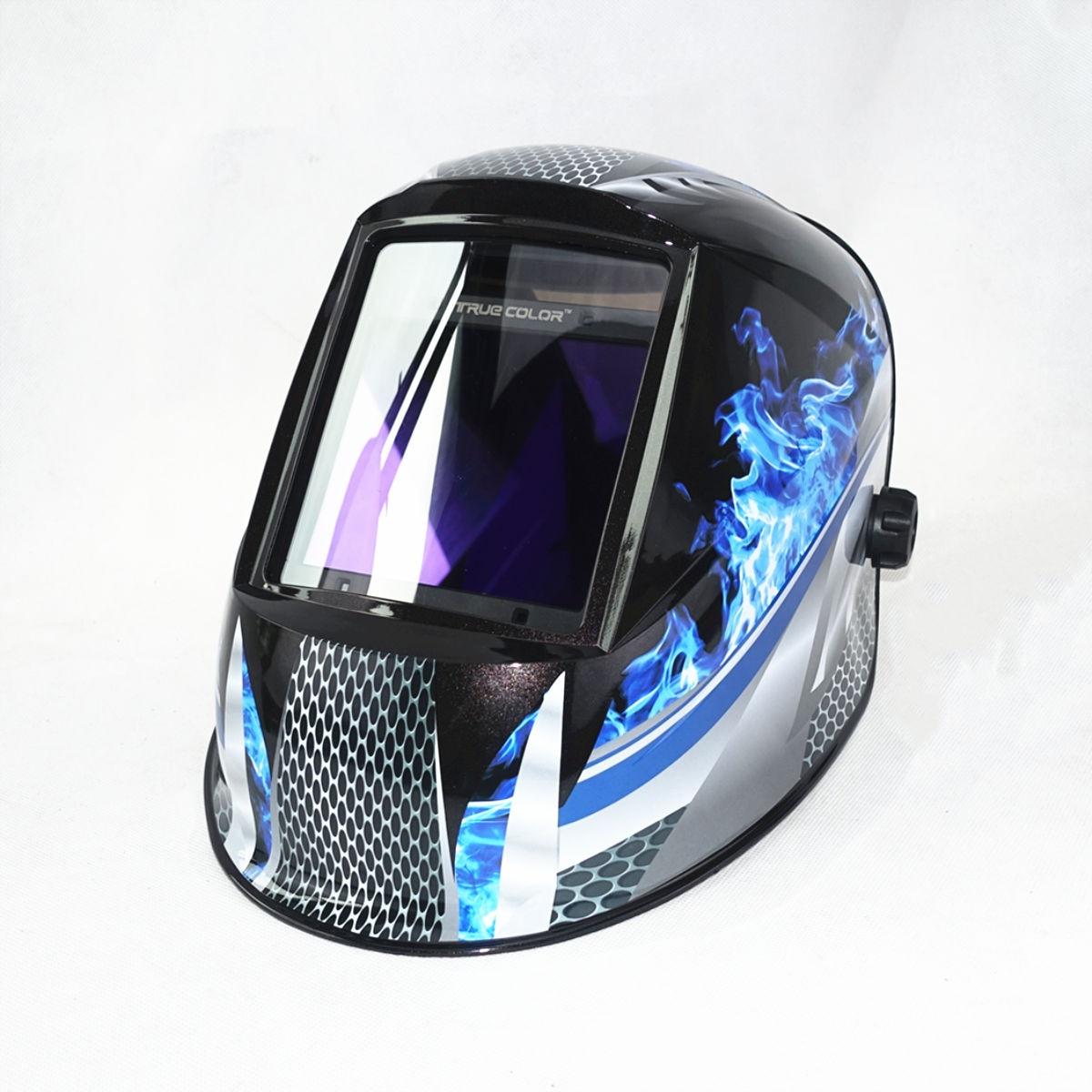 "Auto Darkening Welding Helmet View Size 98x88mm 3.86x2.46"" DIN 4-13 4 Sensors CE EN379 Welding Mask"