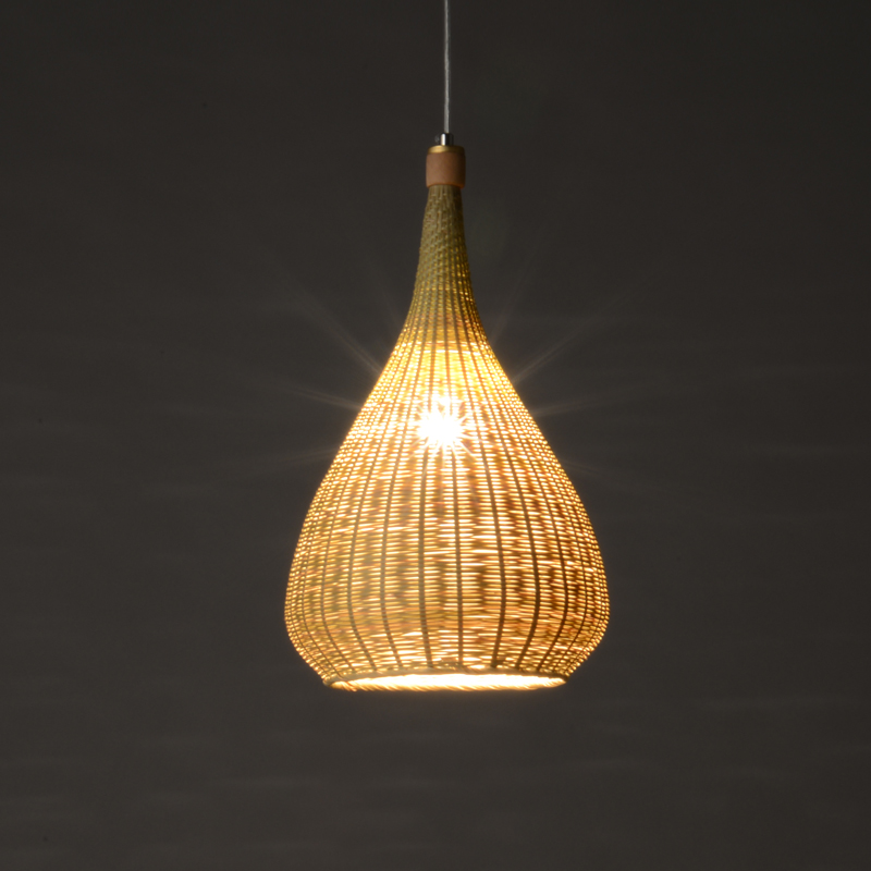 Rattan bamboo pendant lamps Southeast Asian restaurant living room Japanese teahouse authentic creative cage pendant lamps ZA japanese style pendant lamps bamboo cage tea pot shop lampshade southeast lighting spherical creative lights za627 zl122