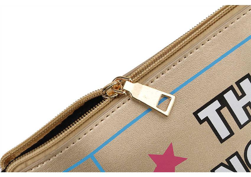 Nouveau Style argent et or mode lettre impression Pu cuir décontracté embrayage enveloppe Designer sac Style sac femme rabat sac à main