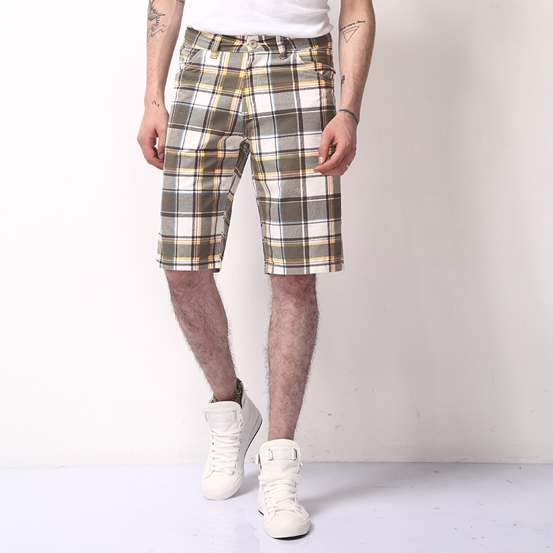 New 2018 Men Cargo Shorts Casual Loose Plaid Short Pants lattice Military Summer Style Knee Length Plus Size Shorts male
