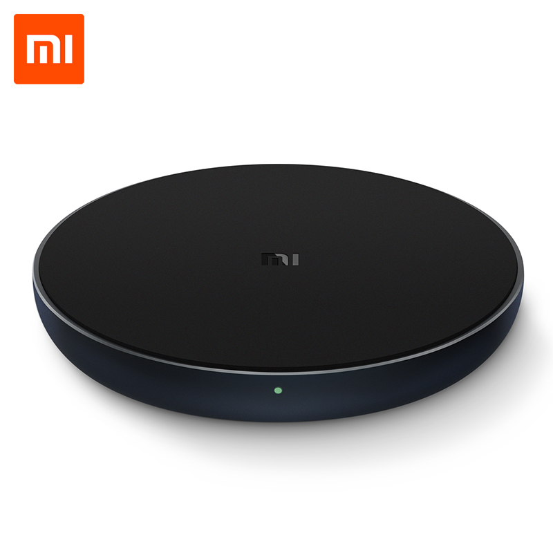 Original Xiaomi Qi Wireless Charger 10W Max Quick Charge Fast Charger Pad for iPhone X XR XS Max 8 Plus Samsung S9 S9 S8 Note 9 in Mobile Phone Chargers from Cellphones Telecommunications