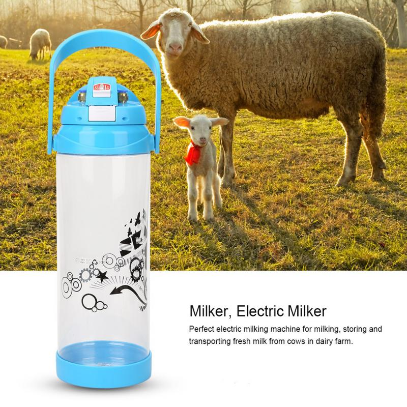 Cows UK Plug Electric Milking Machine PC 3L Mute Thicken Charging Motor Cow Milking Machine Goat Sheep Ewes Milker Milking Kit for Home Small-scalefarm