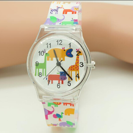 WILLIS Brand Sports Watch Cute Transparent Woman Animal Cartoon Design Silicone Watch For Children Baby Gift Watches PENGNATATE cartoon animal women watch