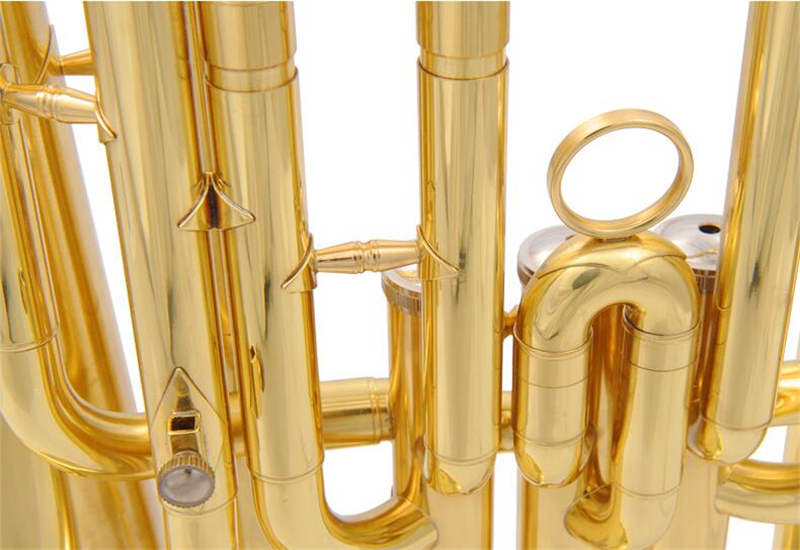 Bb Baritone Horn instruments 3 Pistons baritone with ABS Case and Mouthpiece Instrumentos Musicais Profissionais in Baritone from Sports Entertainment