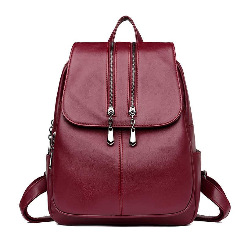 81435a2292f4 Европа и США Стиль Женский легкий рюкзак женский Повседневный Классический  девочки школьная сумка из искусственной кожи