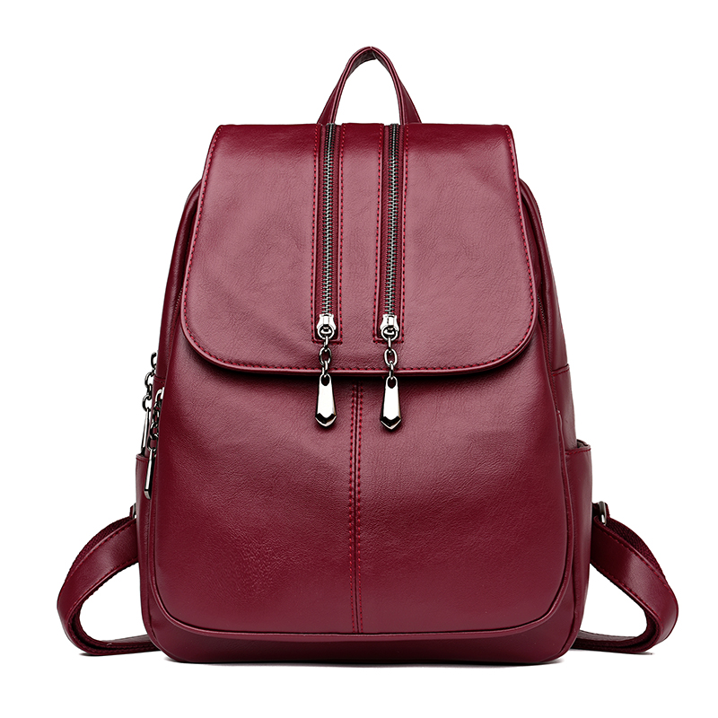 Europe And The United States Style Women Lightweight Backpack Female Casual Classic Girls School Bag PU Leather Waterproof Bag europe and the united states popular bar chairs wholesale and retail australian fashion coffee stool free shipping