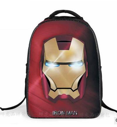 2019 Hot Kids Backpack Iron Man School Bags Satchel Mochila 3D Cartoon Children  School Bags For 5c56c192fcc50